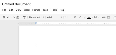 google docs interfaz documento