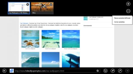 Internet Explorer Modern UI