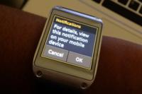Samsung mejorará las notificaciones del Galaxy Gear