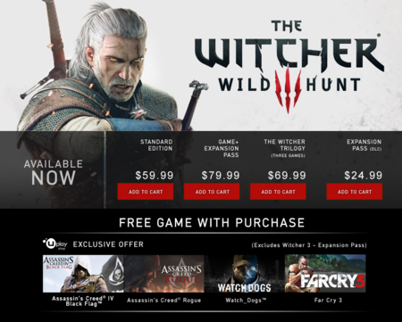 Promocion The Witcher 3 Uplay