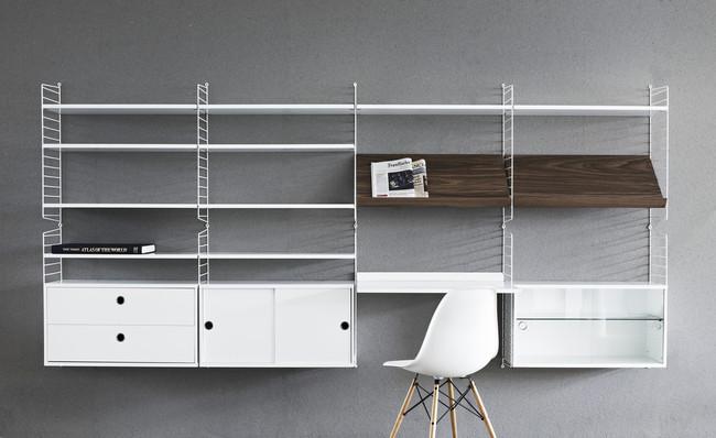 Si quieres una pequeña zona de trabajo en casa, atención a esta soluciones de almacenaje con escritorio