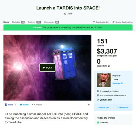 Mandar un TARDIS al espacio