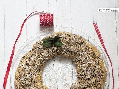 Roscón trenzado de brioche con avellanas. Receta para Navidad con y sin Thermomix