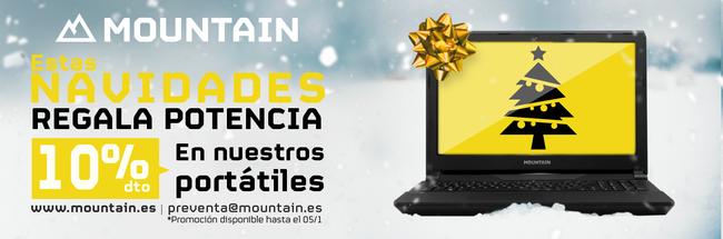 Oferta navideña en Mountain: 10% de descuento en portátiles y 15% de descuento en sobremesa