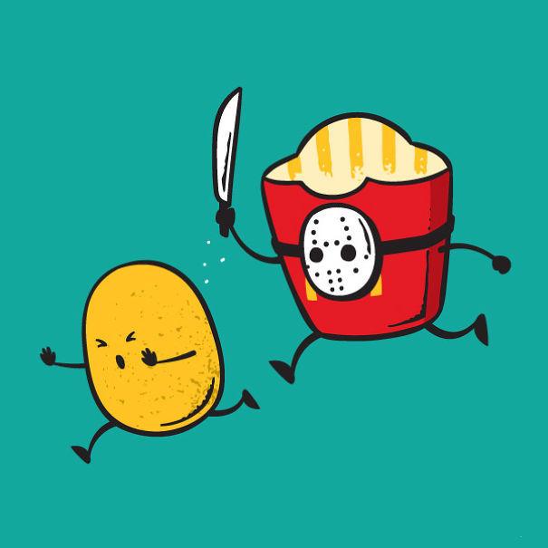 Foto de Caricaturas con comida (2/15)