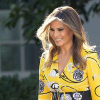 Melania Trump estrena uno de los vestidos más originales de su vestidor, es de Emilio Pucci y cuesta 1.500 euros