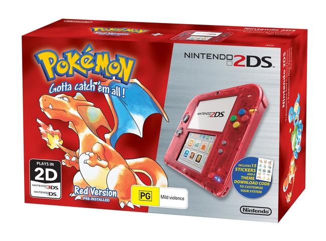 Nintendo 2ds Special Edition Bundle Pokemon Red Version