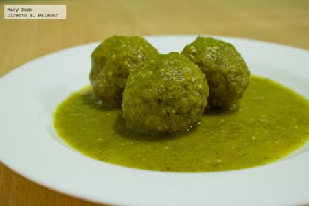 Albóndigas en salsa verde. Receta