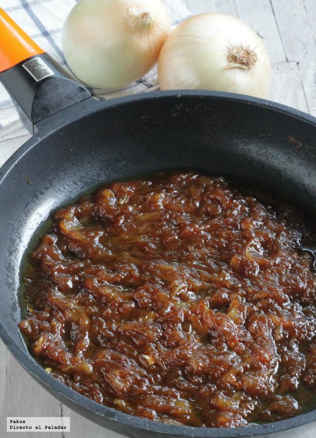 Receta fácil para hacer cebolla caramelizada