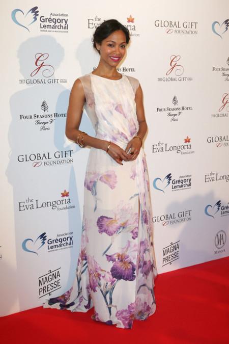 Zoe Saldana look Global Gift Gala 2014