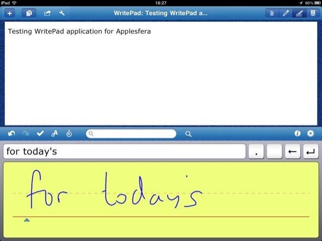 WritePad, escritura y reconocimiento de caracteres