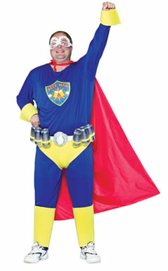Carnaval: disfraz de Superman cervecero
