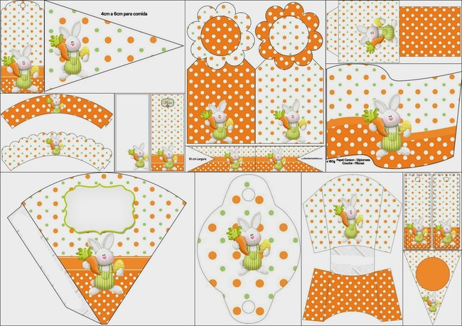 Easter Orange Free Printable Kit2