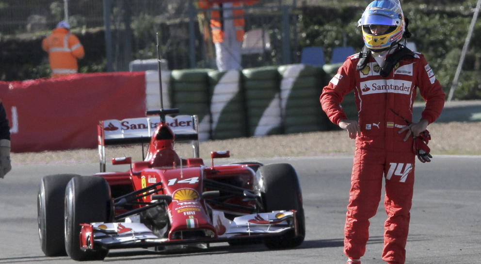 A Alonso Se Le Para El Ferrari