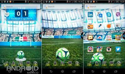UR Launcher estrena nuevo tema 3D con motivo de la Copa Mundial de Fútbol