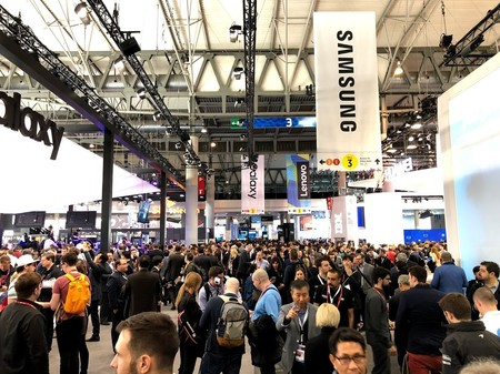 Aglomeraciones en el Mobile World Congress 2019