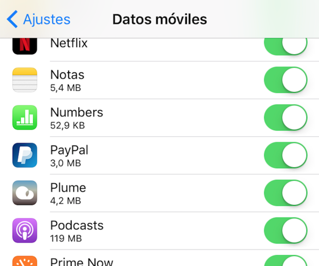 Datos Moviles Aplicaciones