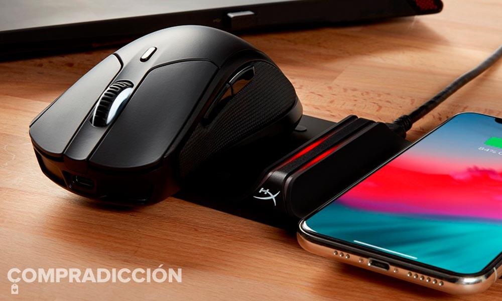 Esta ratón gaming con batería y carga inalámbrica cuesta mucho menos en Amazon: HyperX HX-MC006B Pulsefire Dart por 64,99 euros