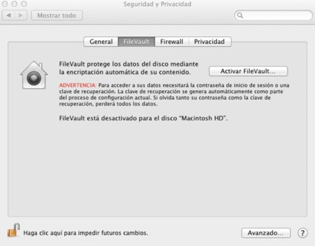 Encriptando el disco de arranque con FileVault