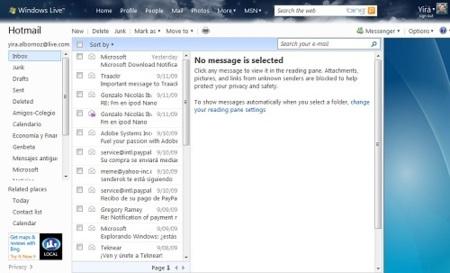 Las novedades de Hotmail para la Wave 4 son un poco decepcionantes (Actualizado)