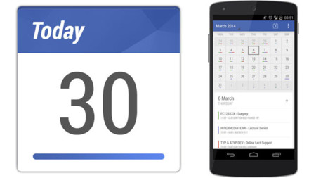 Today Calendar para Android, una versión rediseñada del calendario de Google