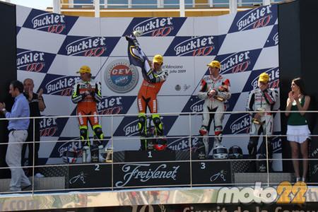 Morales, Moncayo y Rodri se llevaron la tercera del CEV en Cheste