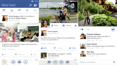 Facebook actualiza su beta en Windows Phone con un nuevo diseño