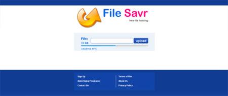 File Savr, aloja y comparte archivos de hasta 10 GB
