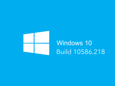Ya está disponible la Build 10586.218 para Windows 10 en PC y Mobile