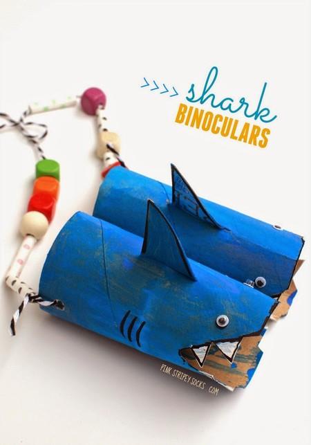 Manualidades Faciles Bonitas Playa Mar Binoculares Tiburon