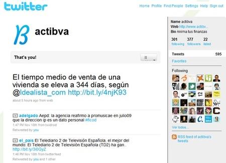 Cotizaciones bursátiles a través del twitter de @actibva