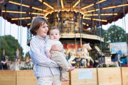 Niños en el parque temático