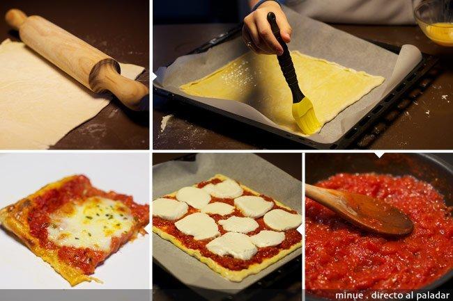 Tarta tatin mozzarella - elaboración
