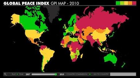 El mapa de la paz en el mundo