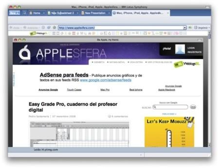 Symphony con navegador