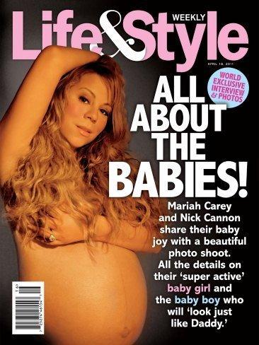 Embarazadas famosas: la portada de Mariah Carey