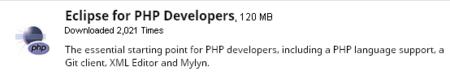 Eclipse - versión para PHP