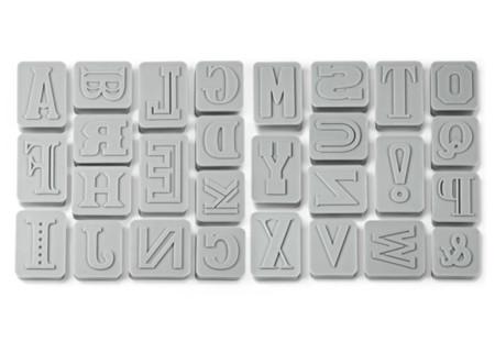 Sets de cortadores de galletas con letras y números