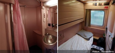 Habitación elipsos trenhotel - baño