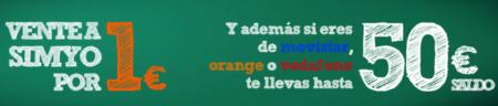 Simyo regala 50€ de consumo a quien se porte desde Orange/Vodafone/Movistar