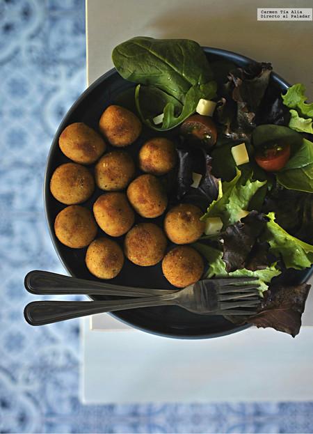 croquetas de queso y mostaza de Dijon