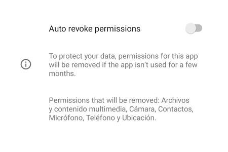 Android 11 puede revocar automáticamente los permisos de las apps que menos usas