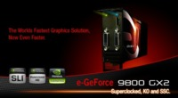 EVGA 9800 GX2 overclockeada de fábrica