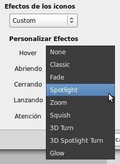 Avant Window Navigator - efectos en los iconos