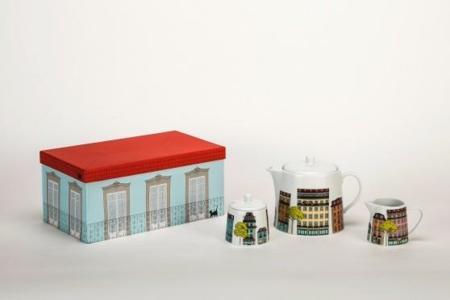 Viste tu mesa de Lisboa con A loja do gato preto