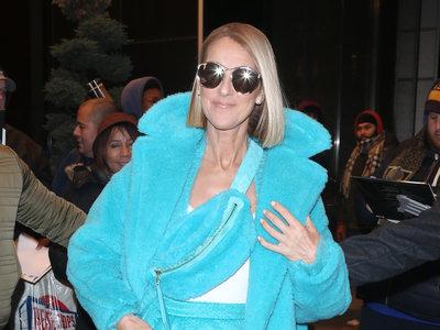 No es un Pitufo (aunque lo parezca): el último look de Céline Dion demuestra que no hay prenda ni color que se le resista