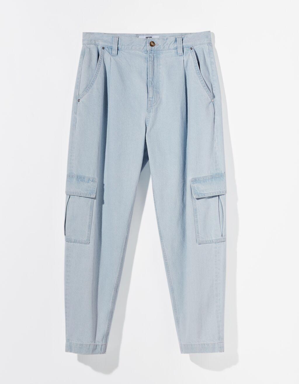 Jeans balloon tipo cargo