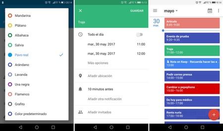 Colores Google Calendar