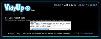 VidyUp, permite a los visitantes de tu web subir vídeos a YouTube