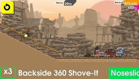 Skateboard extremo en el juego OlliOlli para PS Vita